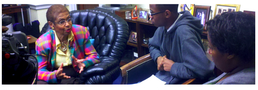 MMTI Students interviewing Congresswoman Eleanor Holmes Norton